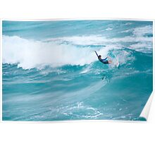 surfing at bondi beach Poster