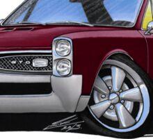 Pontiac GTO (1967) Maroon Sticker