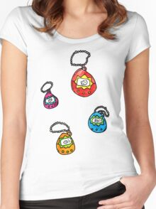 digital keychain pets Women's Fitted Scoop T-Shirt