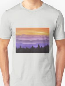 Canadian Mountains Unisex T-Shirt
