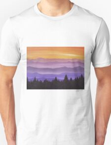 Canadian Mountains Unisex T-Shirt