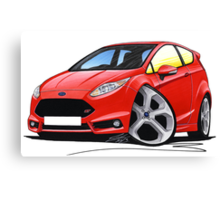 Ford Fiesta (Mk7) ST Red Canvas Print