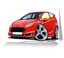 Ford Fiesta (Mk7) ST Red Greeting Card