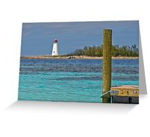 Wooden dock Greeting Card