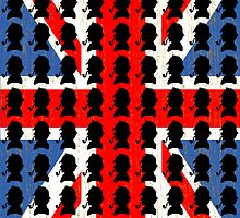 Sherlock Holmes (with union jack flag background) by AuberginePurple