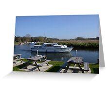 Norfolk Broads Cruiser Greeting Card