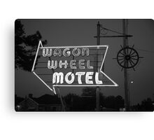 Route 66 - Wagon Wheel Motel Canvas Print
