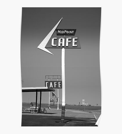 Route 66 - MidPoint Cafe Poster