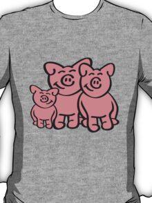 Cute Pig Family T-Shirt