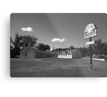 Route 66 - Sunset Motel Metal Print