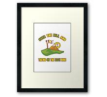 Funny 40th Birthday Golf Gift Framed Print