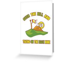 Funny 60th Birthday Golf Gift Greeting Card