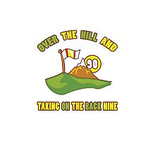Funny 90th Birthday Golf Gift Photographic Print