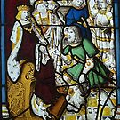 Stained Glass, Burrell Collection 6, King David & Messenger by MagsWilliamson