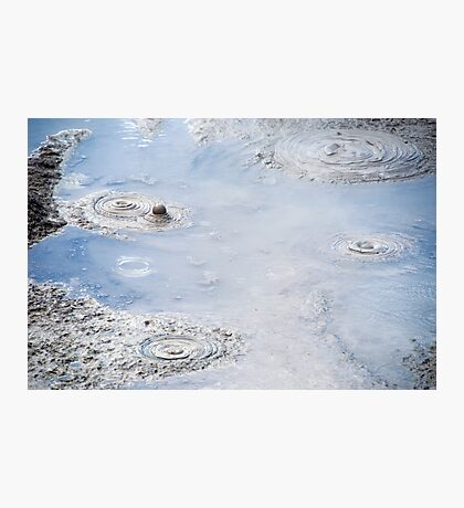 mud pool Photographic Print