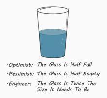 Optimist Pessimist Engineer Baby Tee