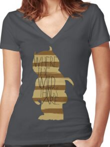 Wild Thing Silhouette Women's Fitted V-Neck T-Shirt