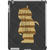 Wild Thing Silhouette iPad Case/Skin