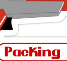 Packing Heat - Zapper Sticker