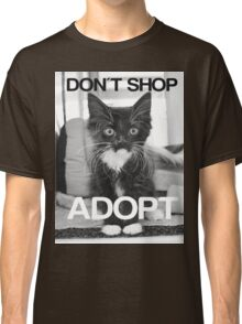 DONT SHOP. ADOPT. - BLACK & WHITE Classic T-Shirt