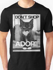 DONT SHOP. ADOPT. - BLACK & WHITE T-Shirt