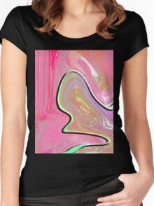 0003 Abstract Design Women's Fitted Scoop T-Shirt