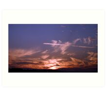 Newhaven Clouds Art Print