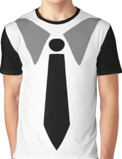 Collar and Tie Graphic T-Shirt