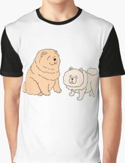 Chow Chow Dog Couple Graphic T-Shirt
