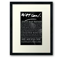 joan watson-alternate Framed Print
