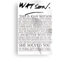 Joan Watson Metal Print
