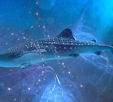 Whale-shark in the fractal big blue. by art-ZeST