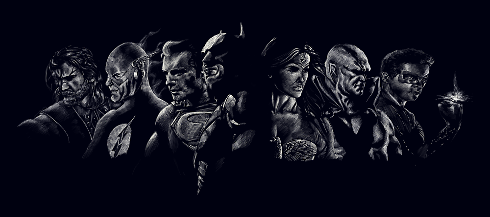 The Justice League by Messypandas