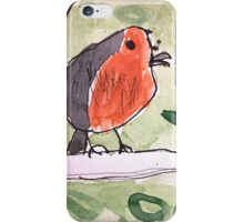 Red Wren by Lexie Uryszek iPhone Case/Skin