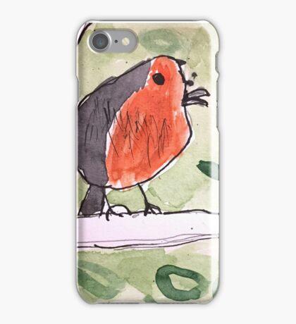 Red Wren by Lexie Uryszek iPhone Case/Skin