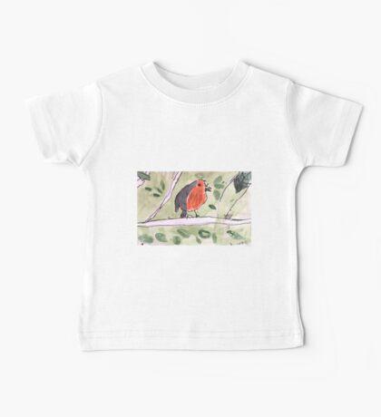 Red Wren by Lexie Uryszek Baby Tee