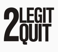 2 legit 2 quit Retro 90's print Kids Clothes