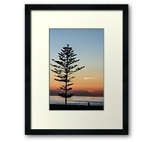 Standing Alone At Sunset Framed Print