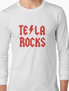 Tesla Rocks Long Sleeve T-Shirt