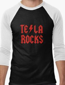 Tesla Rocks Men's Baseball ¾ T-Shirt