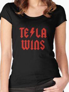 Tesla Wins Women's Fitted Scoop T-Shirt