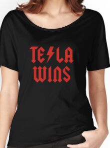 Tesla Wins Women's Relaxed Fit T-Shirt