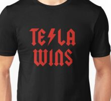 Tesla Wins Unisex T-Shirt