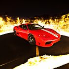 Fiery Ferrari by Gil Folk