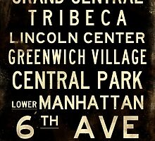 "New York ""SOHO"" V1 Distressed subway sign art by Subwaysign"