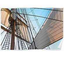 Barque At The Bay Poster