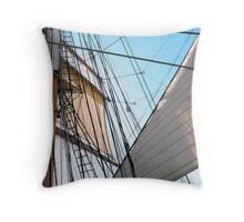 Barque At The Bay Throw Pillow