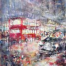 Red Bus and Black Cab - London City Art Gallery by Ballet Dance-Artist