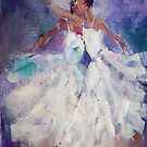 Two Ballerinas - Painting in Ballet & Dance Art Gallery by Ballet Dance-Artist