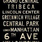"New York ""SOHO"" V4 Distressed subway sign art by Subwaysign"